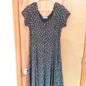 Floral Grey Maxi Dress